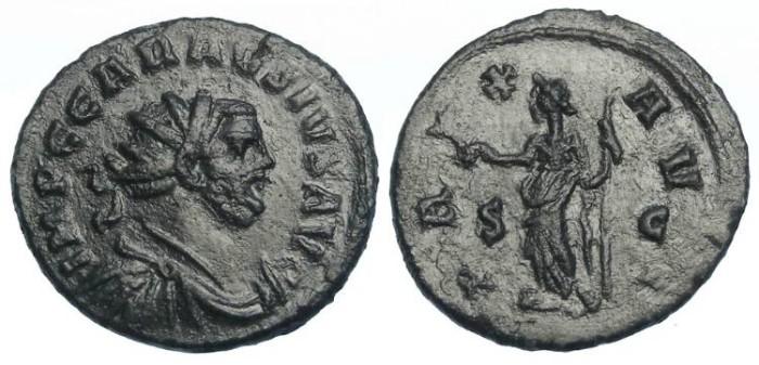 Ancient Coins - Carausius, AD 286 to 293. AE antoninianus.
