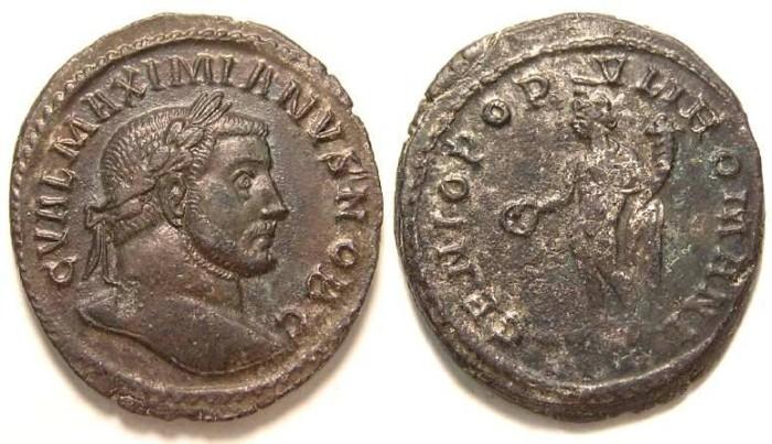 Ancient Coins - Galerius, as Caesar, AD 293-305. AE follis