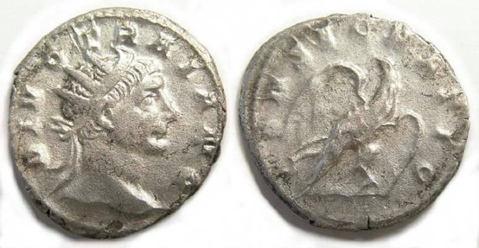 Ancient Coins - Divo Trajan.  Antoninianus struck by Trajan Decius.