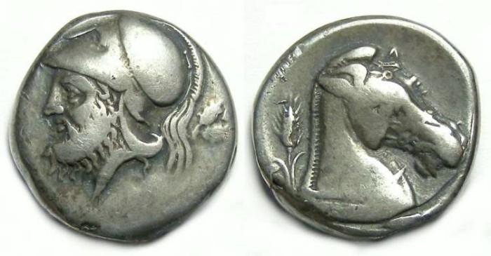 Ancient Coins - Roman Republic. Anonymous, ca. 280 BC. Silver didrachm.