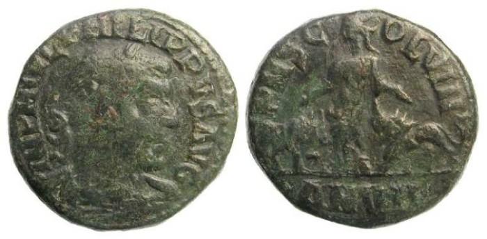 Ancient Coins - Philip I, AD 244-249. AE 28 from Viminacium