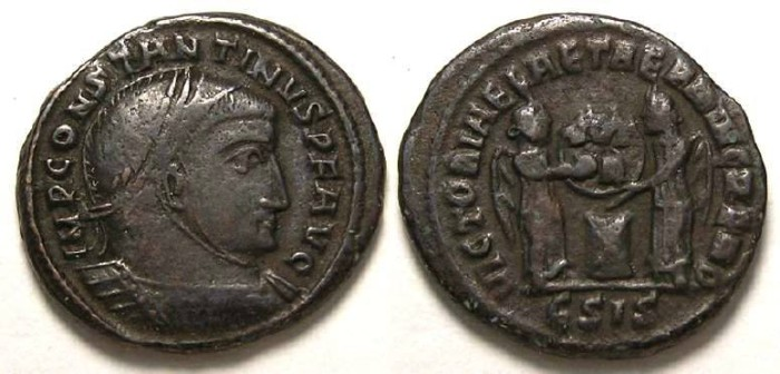 Ancient Coins - Constantine the Great, AD 307 to 337. AE 3.