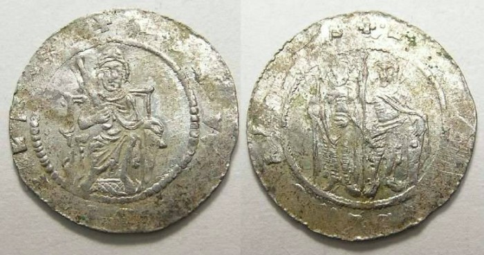 Ancient Coins - Bohemia.  Vladislaw I, AD 1109 to 1118 and 1120 to 1125.  Silver denier.