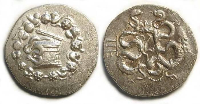 Ancient Coins - Roman Province of Asia, Pergamene, Cistophoric tetradrachm. ca. 133 to 67 BC.