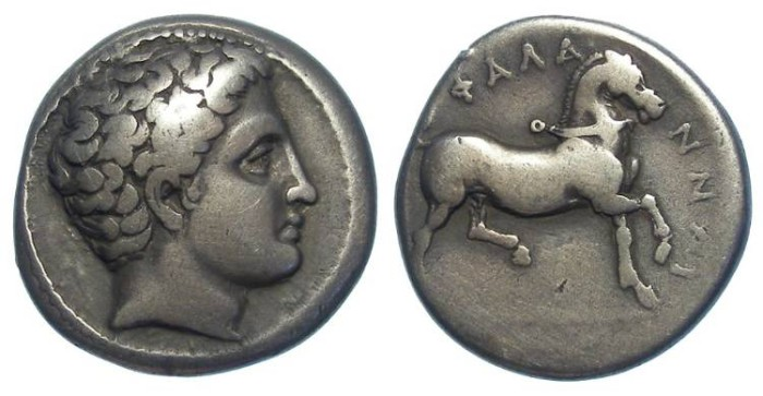 Ancient Coins - Phalanna in Thessaly. ca. 400 to 344 BC. Silver drachm.
