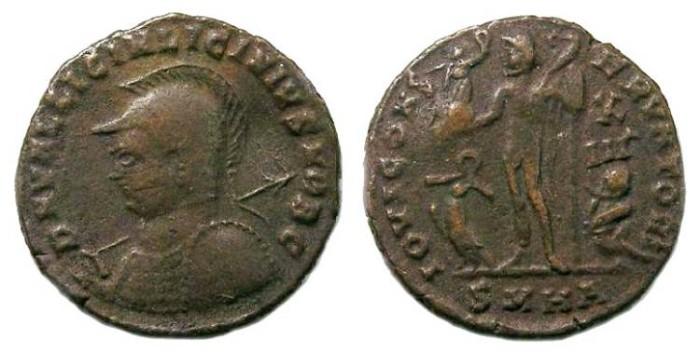 Ancient Coins - Licinius II as Caesar, AD 317 to 324.  AE 3.