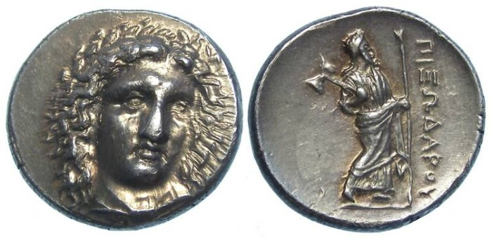 Ancient Coins - Satraps of Caria. Halikarnassos. The Satrap Pixodaros, ca. 340 to 334 BC. Silver didrachm