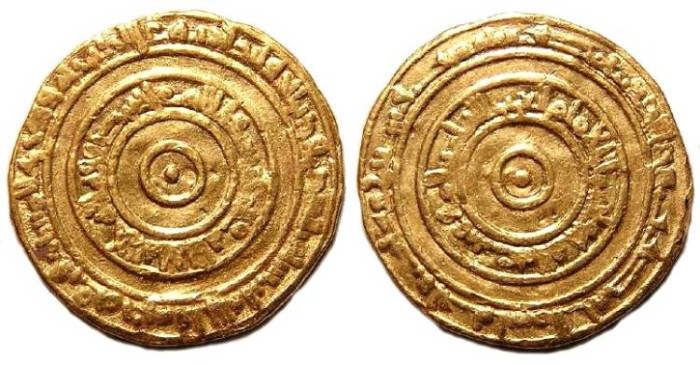 Ancient Coins - Fatimid. al-'Aziz.  AH 366 (AD 977).  Gold Dinar.