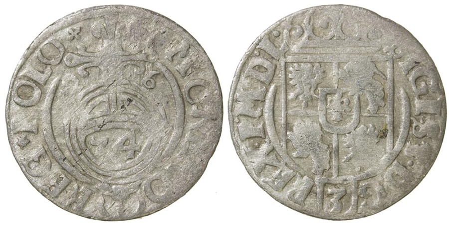 World Coins - POLAND AND LIVONIA. Sigismund III, 1587 to 1632. Silver 3 polker. 1626
