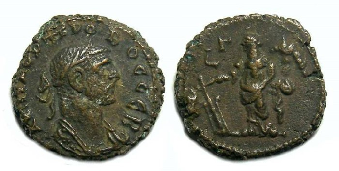 Ancient Coins - Probus, AD 276 to 282. Alexandrian Potin tetradrachm