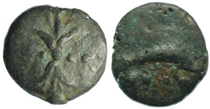 Ancient Coins - Roman Republican Aes Grave.  AE Triens.  ca. 280 to 269 BC.