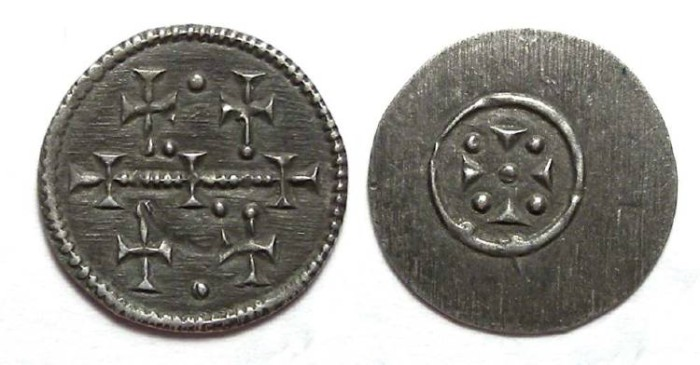 Ancient Coins - Hungary. Anonymous, 12th century. Silver Denar.