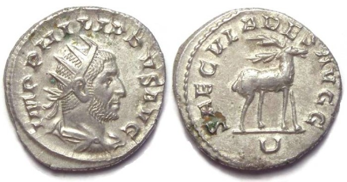 Ancient Coins - Philip I, AD 244 to 249. Silver antoninianus - 1000 th anniversary series.