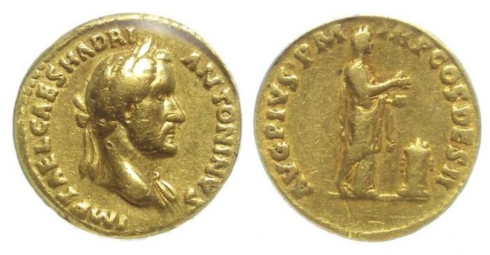 Ancient Coins - Antoninus Pius. AD 138 TO 161.  Gold aureus.