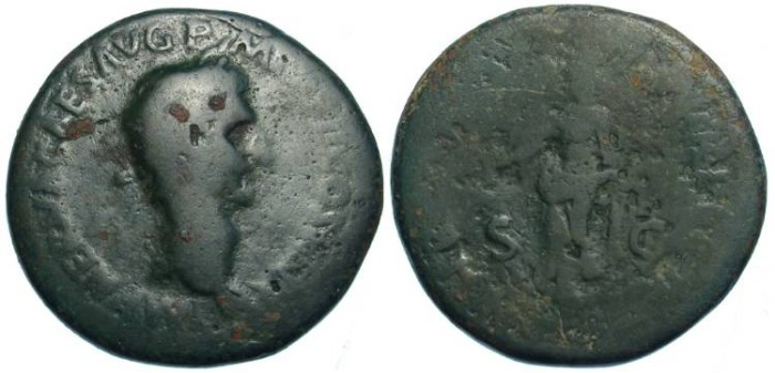 Ancient Coins - Nerva, AD 96 TO 98.  AE Sestertius.