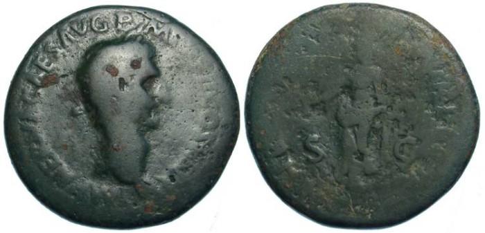 Ancient Coins - Nerva, AD 96 TO 98.  AE Sestertius.
