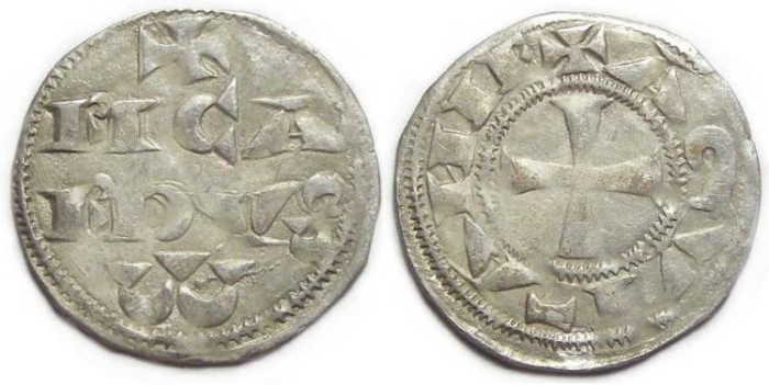 Ancient Coins - Anglo-Gallic. Richard the Lion Heart. Duke of Aquitaine.  AD 1172 to 1189. Silver Denier.