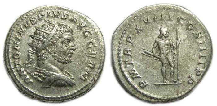Ancient Coins - Caracalla, AD 198-217, Silver Antoninianus
