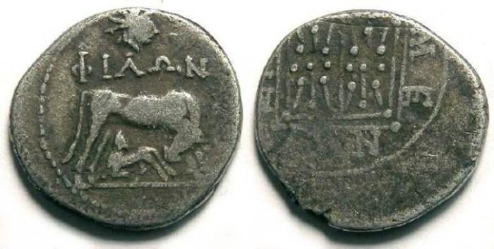 Ancient Coins - Illyria, Dyrrhachium. After 229 BC. Silver drachm