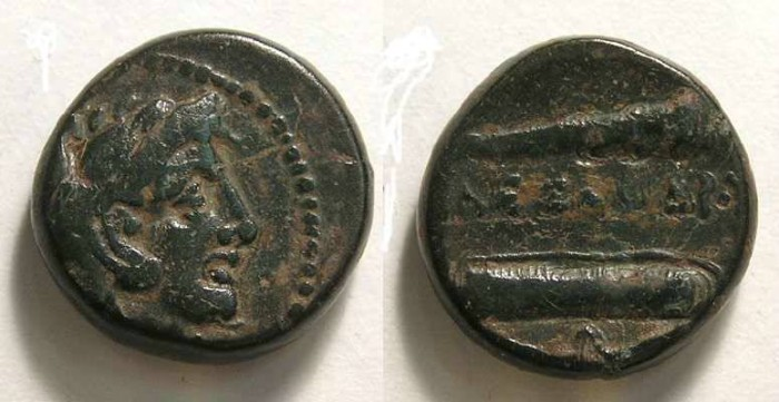 Ancient Coins - Macedonian Kingdom, Alexander the Great, 336 to 323 BC.  AE 16