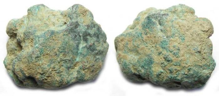 Ancient Coins - Roman Republic. Aes Rude. ca. 300 to 400 BC.  6.01 grams.