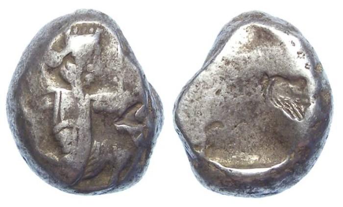 Ancient Coins - Royal Persian Coinage. ca. 420 to 375 BC. Silver Siglos.