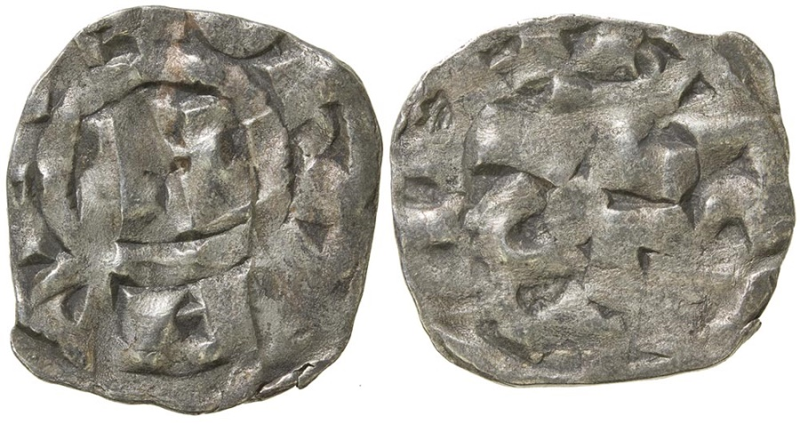 World Coins - ITALY. Lucca. Henry III to V, AD 1035 to 1125. AR denaro. Favored by Crusaders.