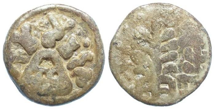 Ancient Coins - India, Andhrabhrityas, Civic coinage of the Chutus of Banavasi, ca. AD 160-345. Lead 2 Karshapana.