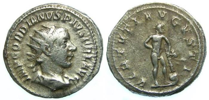 Ancient Coins - Gordian III, AD 238-244. Silver Antoninianus