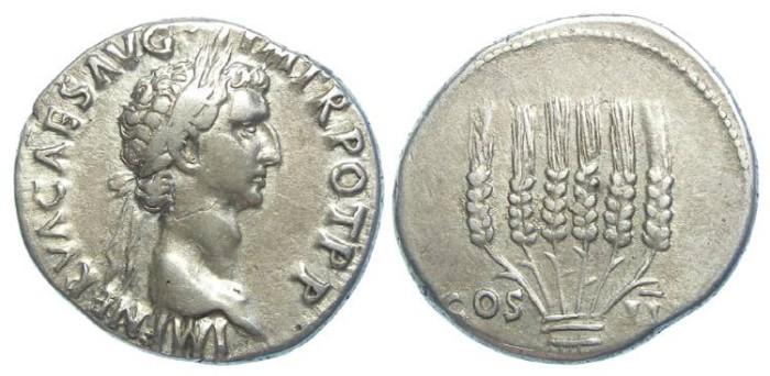 Ancient Coins - Nerva, AD 98 to 117, Silver Cistophorus.
