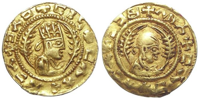 Ancient Coins - Axumite. Abana, ca. AD 440 to 470. Gold unit.