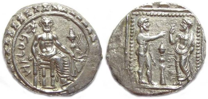 Ancient Coins - Cilicia, Tarsus. Satrap Datames, 378 to 372 BC. Silver stater.