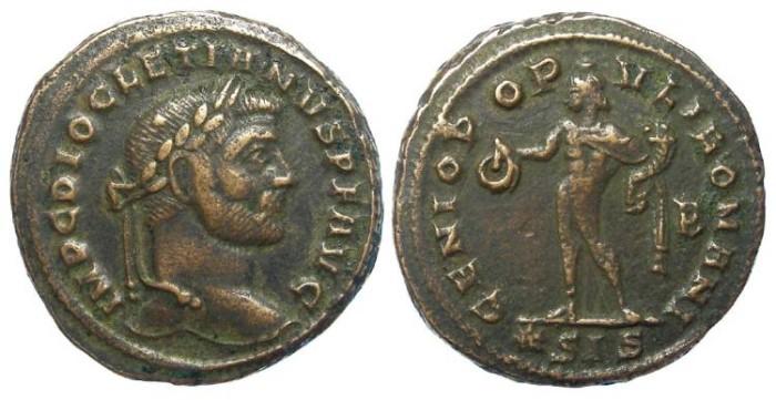 Ancient Coins - Diocletian, AD 284-305. Bronze follis.