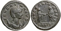 Severina. Wife of Aurelian, AD 270-275. AE Antoninianus