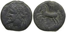 Ancient Coins - Numidia in North Africa. King Massinissa or Micipsa. ca. 203-118 BC. AE 27