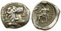 Ancient Coins - Macedonian Kingdom, Alexander the Great, 336 to 323 BC. Silver obol.