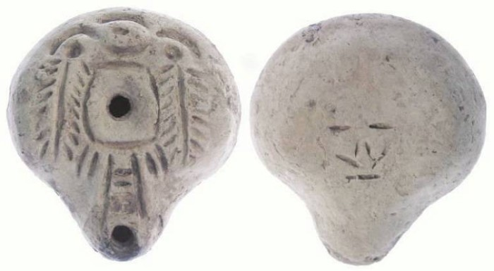 Ancient Coins - Egyptian Lamp. ca. 1st to 2nd century AD.  Frog Style.