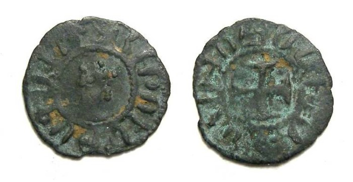 Ancient Coins - Armenia. Hetoum II, AD 1289 to 1305. Billon unit.