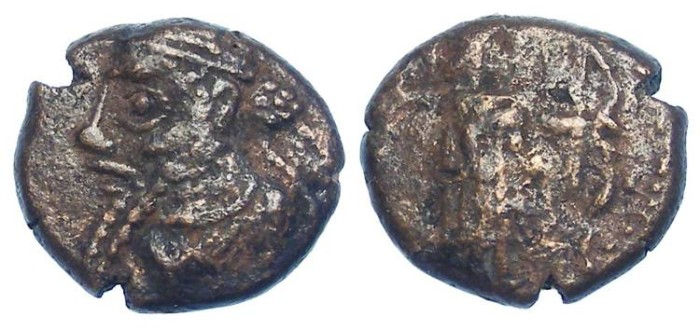 "Ancient Coins - Elymaids. Unknown Prince ""A"". early 3rd century AD. Bronze drachm"
