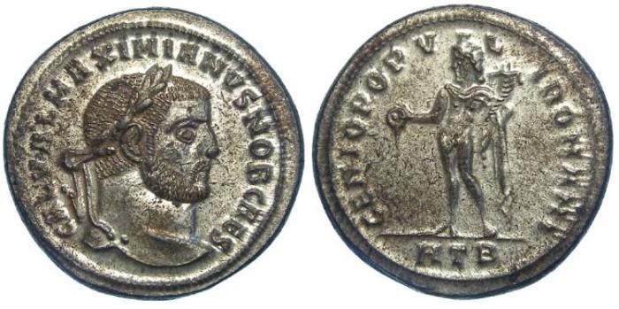 Ancient Coins - Galerius, as Caesar, AD 293-305. Bronze follis.