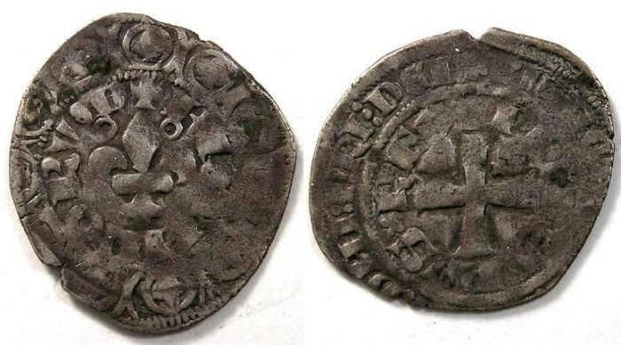 Ancient Coins - France. Philippe VI, AD 1328 to 1350. Silver Gros.
