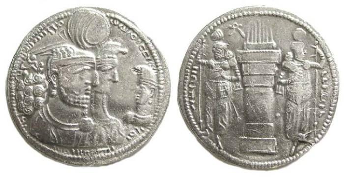 Ancient Coins - Sassanian. Varharan II, AD 274 to 293