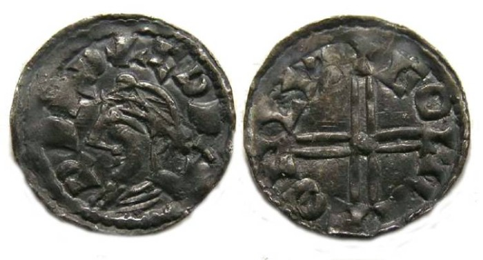 Ancient Coins - Britian, Anglo-Saxon. Edward the Confessor, AD 1042 to 1066.  Silver small module penny.