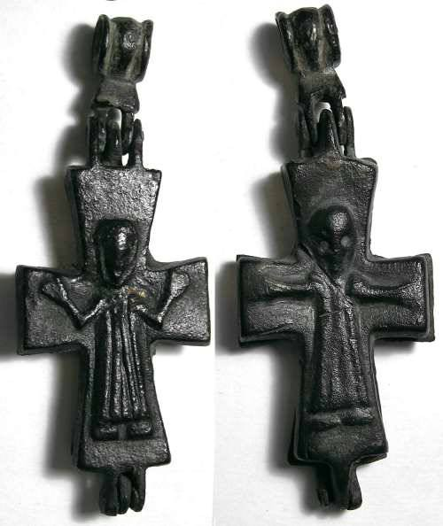 Ancient Coins - Byzantine reliquary cross. 10 th to 12 th century AD.
