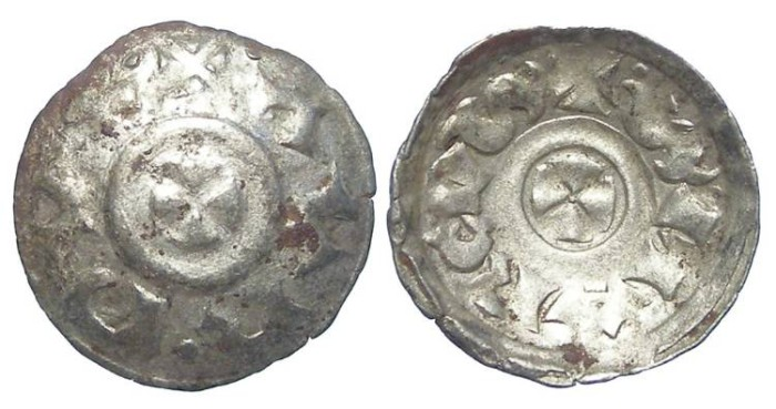 Ancient Coins - Italy, Venice. Orio Malipiero. AD 1178-1192. Silver Quarteruolo.  Shortened inscription.