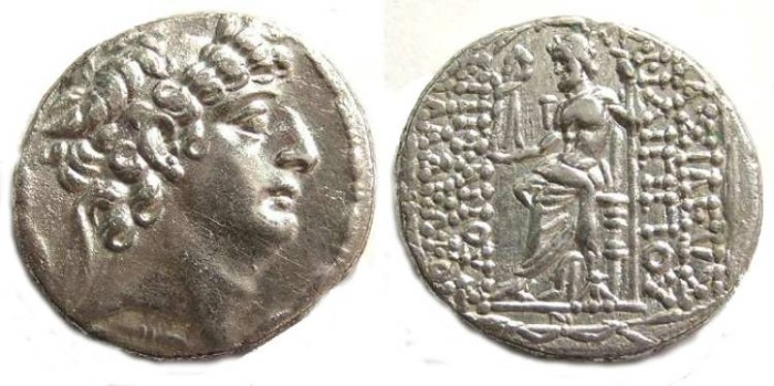 Ancient Coins - Seleukid. Philip Philadelphos, 93 to 83 BC. Silver tetradrachm.
