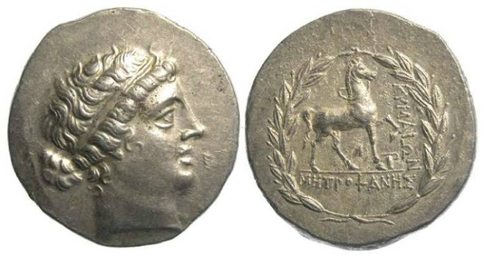 Ancient Coins - Kyme in Aiolis. 2nd century BC. Silver tetradrachm.