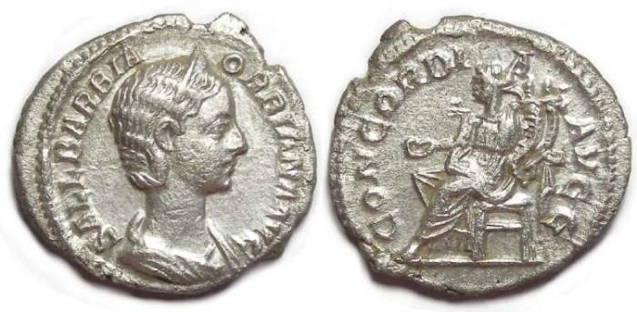Ancient Coins - Orbiana, AD 225 to 227. AR denarius.