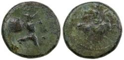 Ancient Coins - PELINNA IN THESSALY. CA. 400 TO 344 BC.  AE 13