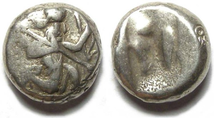 Ancient Coins - Royal Persian Coinage. ca. 450 to 330 BC. Silver Siglos.